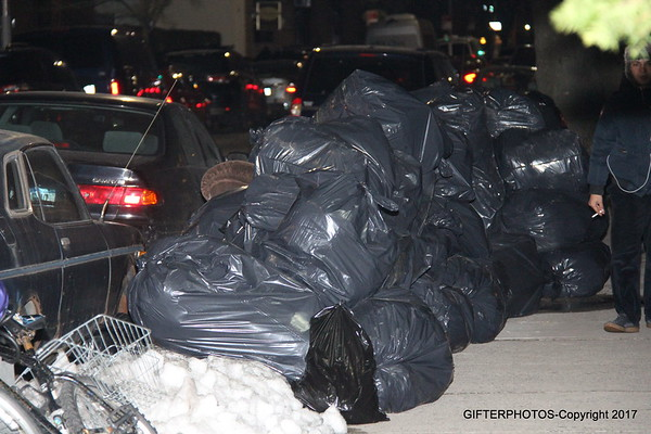 GARBAGE PILING UP IN NYC