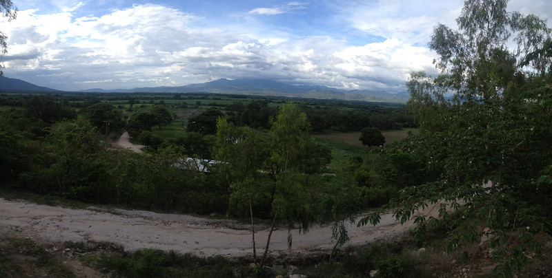 The beautiful view seen from the compound.