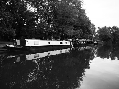 River House Boats in Windsor, England, UK in Black and White