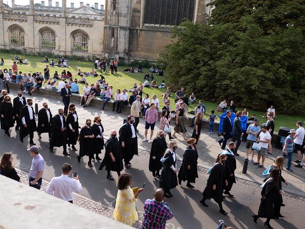 Graduation ceremony in Cambridge