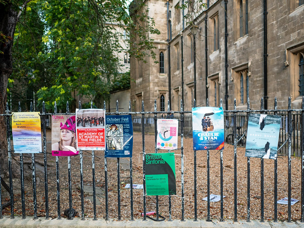 Poster of plays at Cambridge University