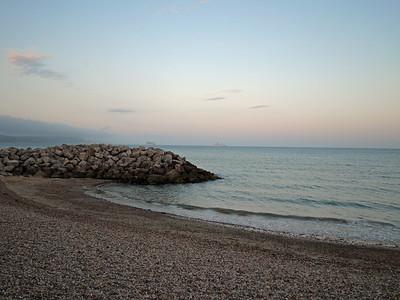 Rocks at Preston beach, Weymouth, England, UK.