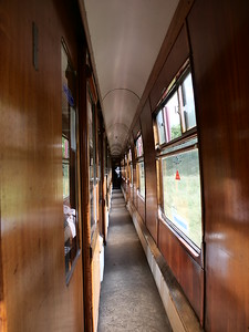 Passage in first class carriage