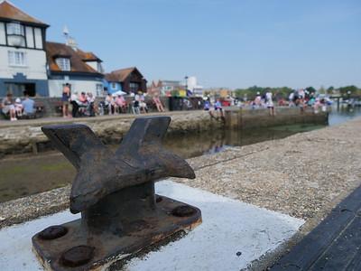 Dock cleat on Lymington Quay, England, UK