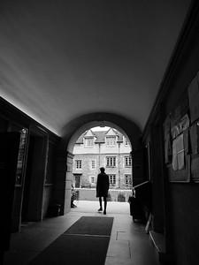 Man walking out
