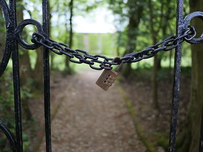 Lock - private area do not enter