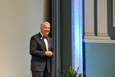 President Dorman gives his annual State of the University Address in February 2020