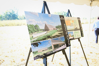 Georgia College students, faculty, staff, as well as state and local officials gather for the groundbreaking of the new Andalusian Interpretive Center, scheduled to be completed in 2022.