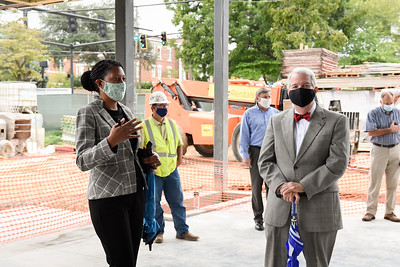 The GC community came together to participate in the beam signing of the new Integrated Science Complex.