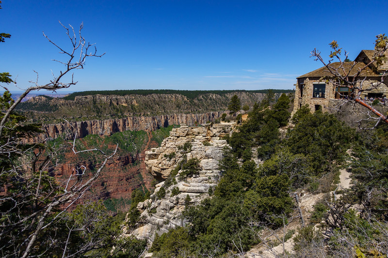 Overlook and the Bright Angel Point Trial that runs along the rim provides unparalleled views of the Grand Canyon.