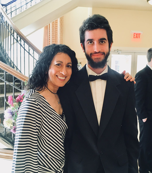 Lisa Ansara with her son, GD Chamber Choir member Andrew McCusker of Dunstable