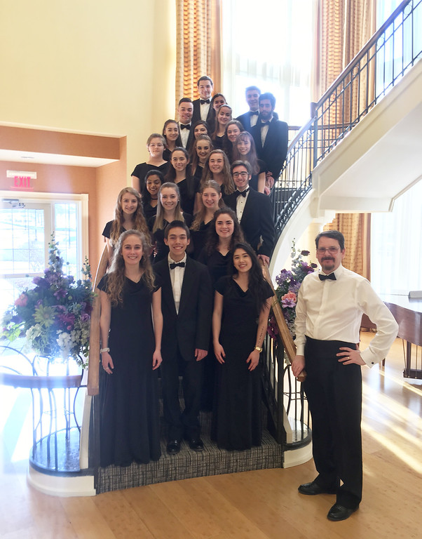 . The Groton-Dunstable Regional High School Chamber Chorus with Director Tim Savoy