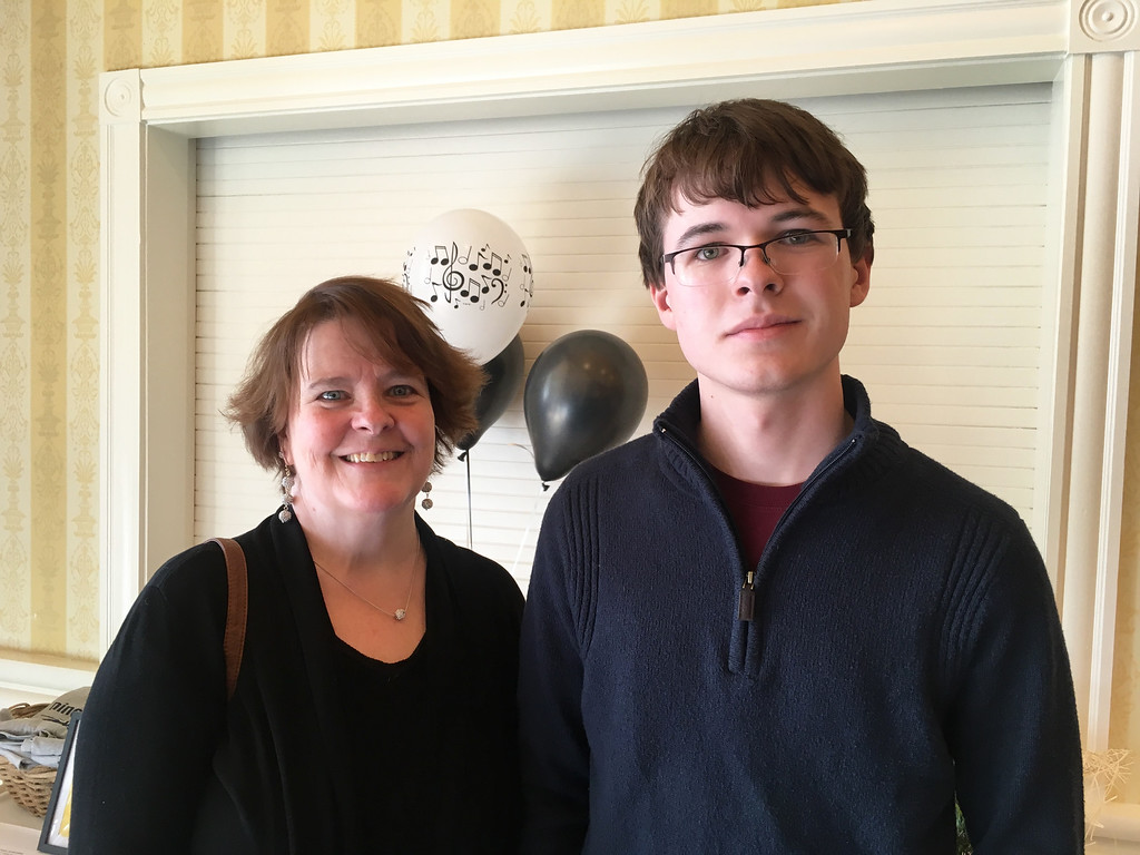 . Rosie Pellizzari and son Nick of Groton