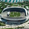 Soldier Field Stadium in Chicago Aerial Photo