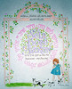 Shehecheyanu Plaque for baby with English and Hebrew names/dates