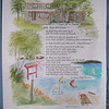 """This is a """"bless this house"""" poem with the background the log cabin on one of Michigan's lakes where it will hang."""