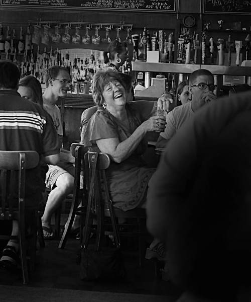 LAUGHING LADY- RESTAURANT- MINNEAPOLIS- LEICA SUMMILUX LENS- G3