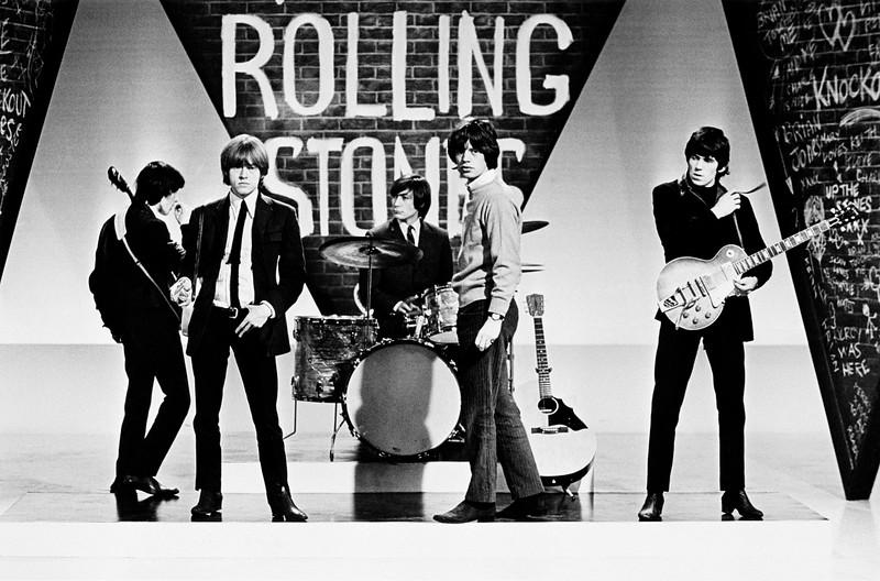 "The Rolling Stones on the set of ""Thank Your Lucky Stars"" 1964"
