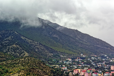 View from Jvari Monastery