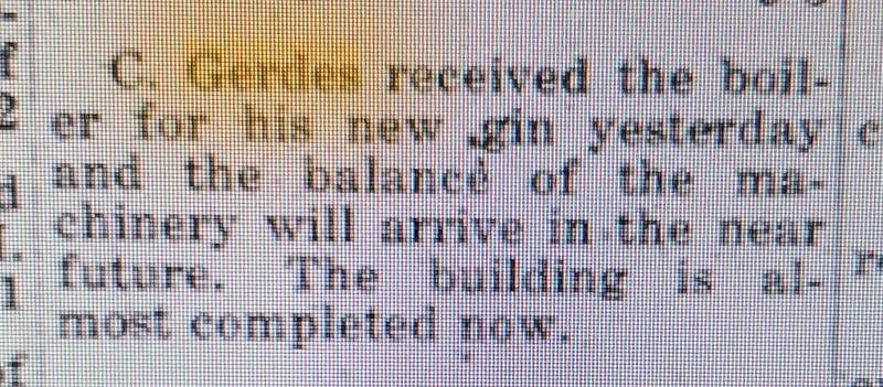 Casper gets his Boiler ! April 21, 1916..
