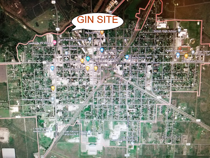 Present day Sinton, Texas
