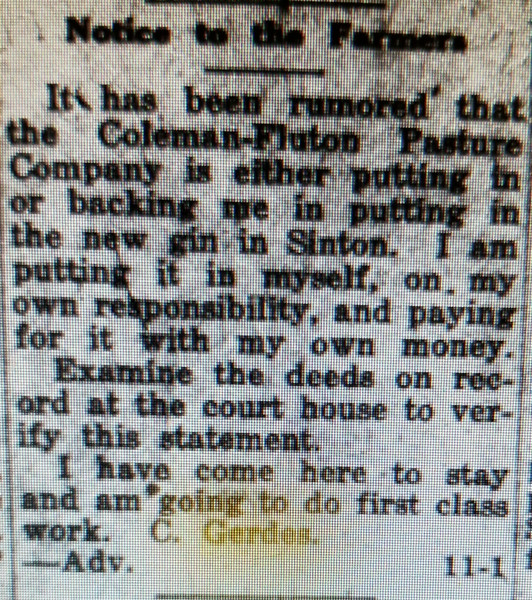 Casper tries to clear up the rumors.  April 28. 1916..ahahahha