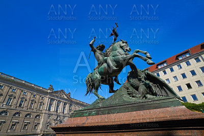Berlin Saint Georges statue in Germany