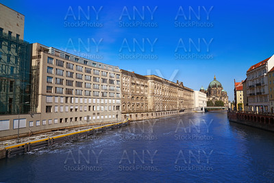 Berlin Spree river and Cathedral Dom