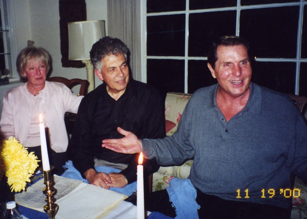 Tom with Ralph and Kathleen Platz Party at Jerry Fallons November 2000