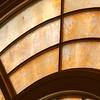 Original Arched Milk-Glass Windows, Detail