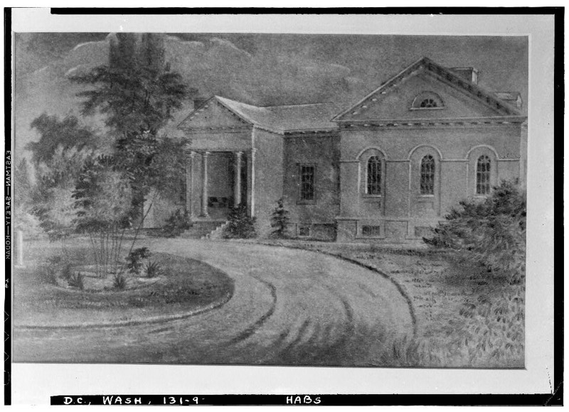 Camp Greene, Mason House Drawing (after 1790, LoC dc0424 sp1) - BradshawG