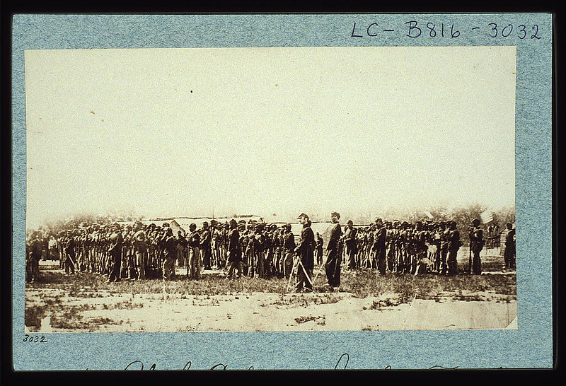Camp Greene, 1st Colored Infantry (~1861-65, Brady, LoC 3f06431v) - BradshawG
