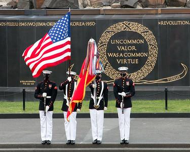 Sunset Parade at Marine Corps Memorial