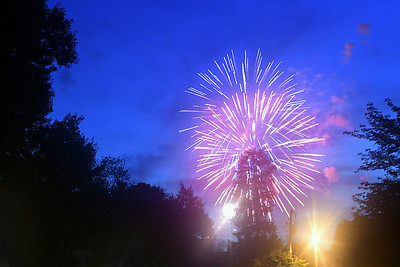 Fireworks and Annoying Street Light