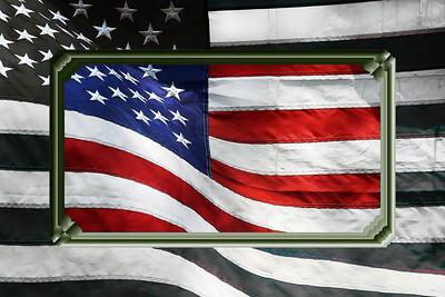 Flag, B&W
