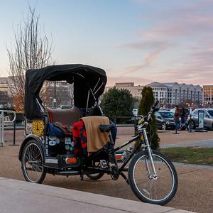 Pedicab at the US Botanic Garden
