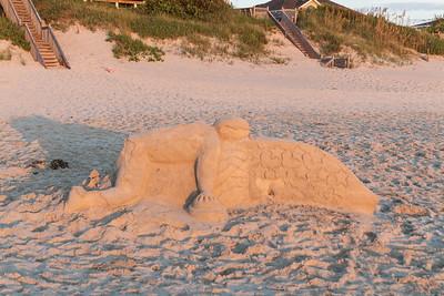 Whale Hugger (Sand Sculpture)