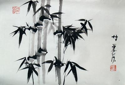 Celebrating Spring - Bamboo sketch