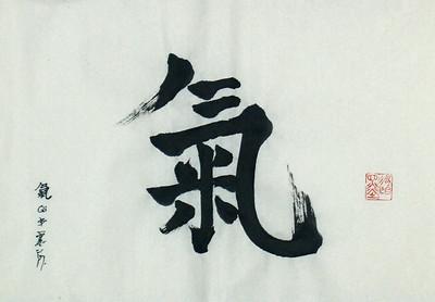 Qi / Ki, 13 x 20 inches, ink on xuan paper (mounting pending)