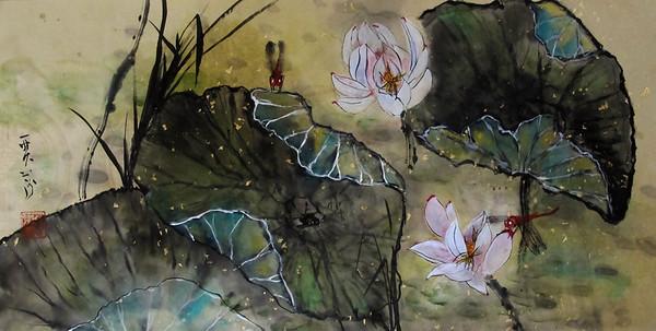 Lotus and Scarlet Darters
