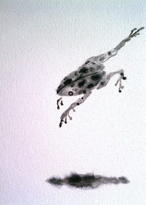 Detail of Frog shikishi
