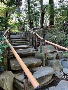 Photo: pathway in gardens at Grand Prince Hotel, Shinagawa, Tokyo
