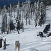Our snowmobile trek atop Sugarloaf Peak, WA.