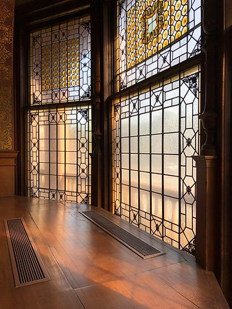 Tiffany Windows at Flagerl College by Lisa Fisher