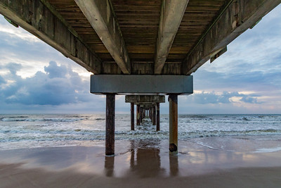Under St Augustine Pier by Linda Skinner
