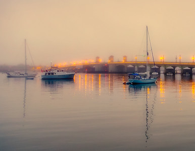 Foggy Sunrise by Vicki Payne
