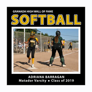 Adriana Barragan GHS Softball 2019 Sr