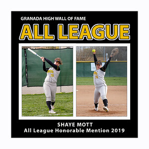 Mott Shaye GHS Softball HM All League 2019
