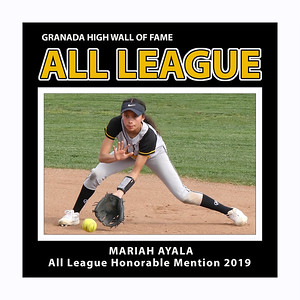 Mariah Ayala GHS Softball 2019 HM All League