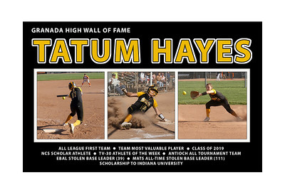 HAYES TATUM 13 x 19 GHS SOFTBALL 1ST TEAM 2019